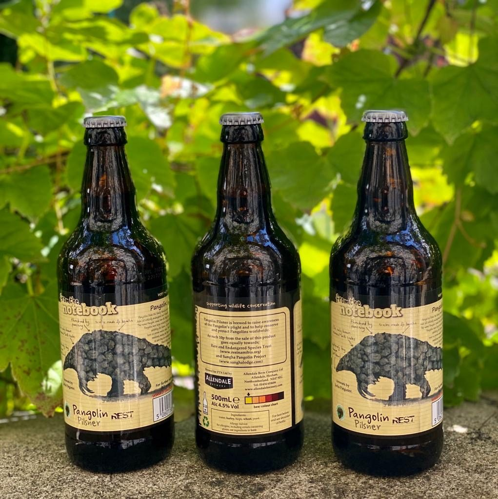 Showcasing the new Pangolin Pilsner